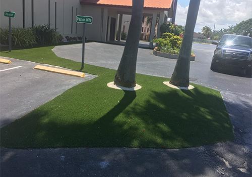 Artificial Turf INstallation At Miami Church